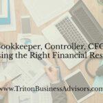 Bookkeeper, Controller or CFO?