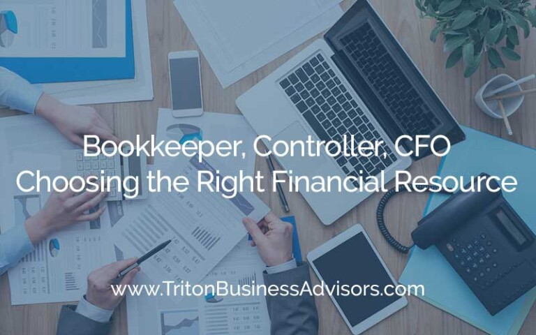 Bookkeeper, Controller or CFO?