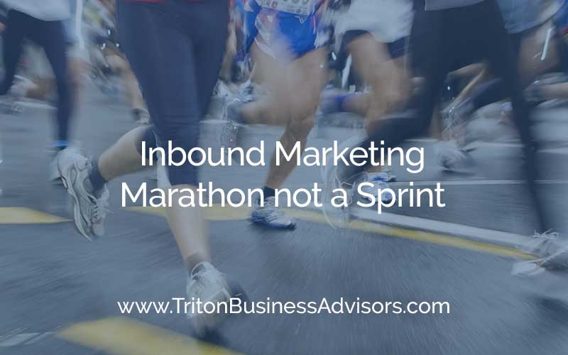 Inbound Marketing, Marathon not a Sprint