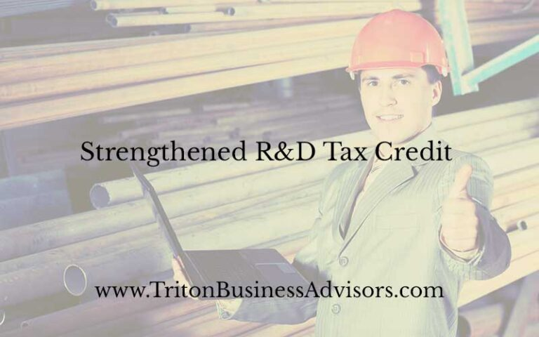 Strengthened R&D Tax Credit
